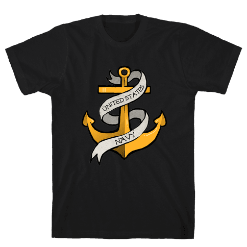 Navy Anchor Mens T-Shirt