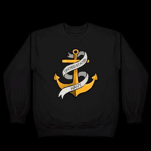 Navy Anchor Pullover