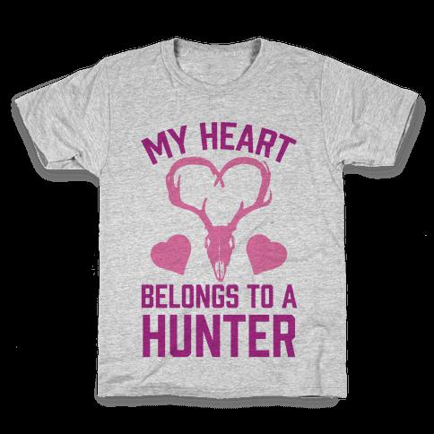 My Heart Belongs To A Hunter Kids T-Shirt