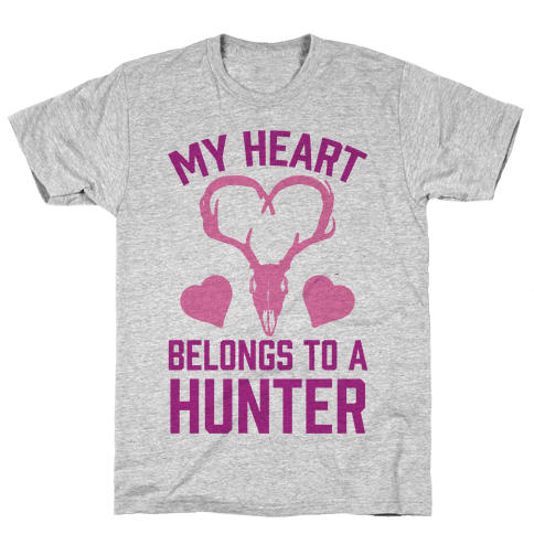 My Heart Belongs To A Hunter Mens T-Shirt