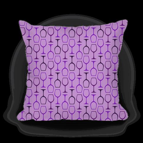Purple Wine Glasses Pattern