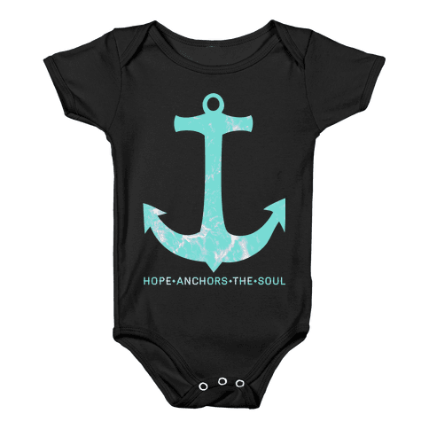 Hope Anchors The Soul Baby Onesy