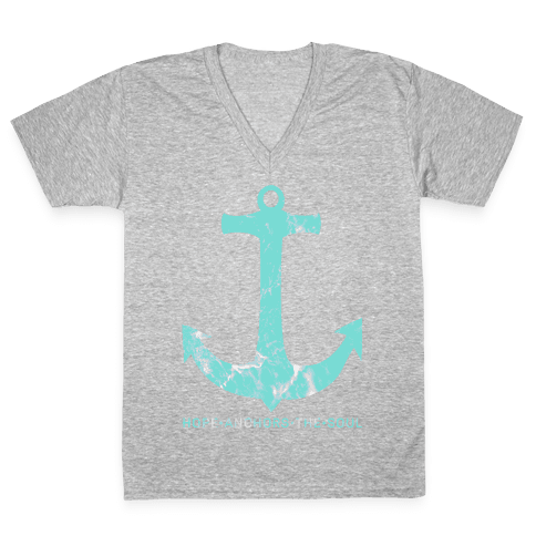 Hope Anchors The Soul V-Neck Tee Shirt