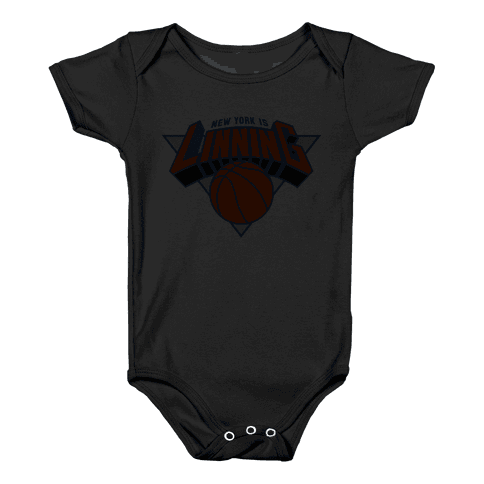 For The Lin blue Baby Onesy