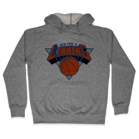 For The Lin blue Hooded Sweatshirt