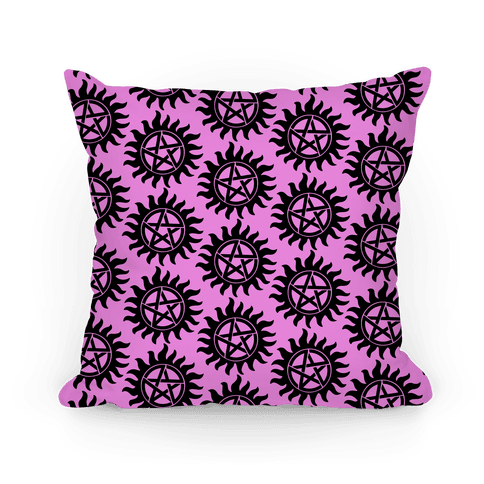Supernatural Anti-Possession Symbol Pattern Throw Pillow | LookHUMAN