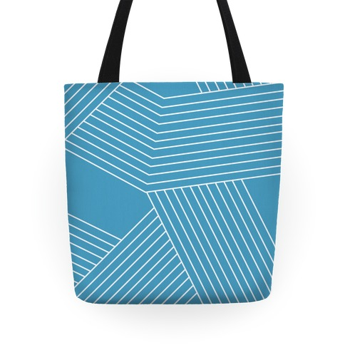 Crosshatch Pattern Tote Tote