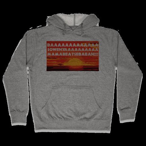 LION KING OPENING SONG (TANK) Hooded Sweatshirt
