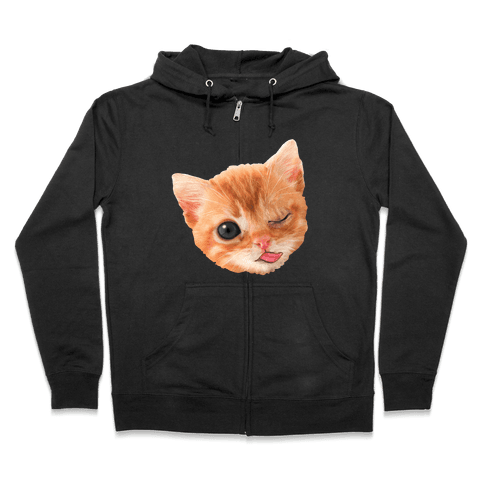 Miley Cat Head Zip Hoodie