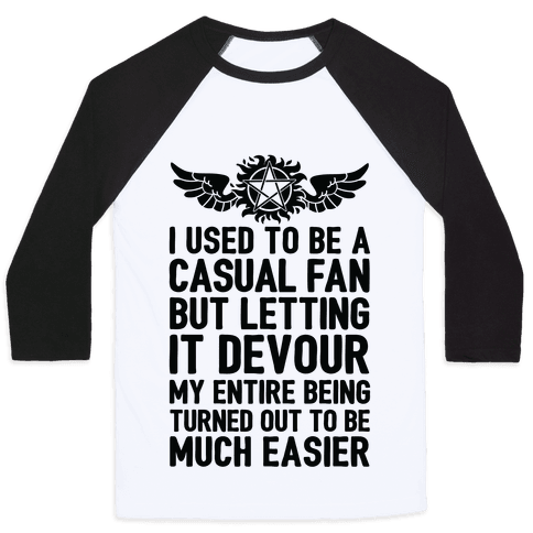 I Used To Be A Casual Fan (Supernatural) Baseball Tee