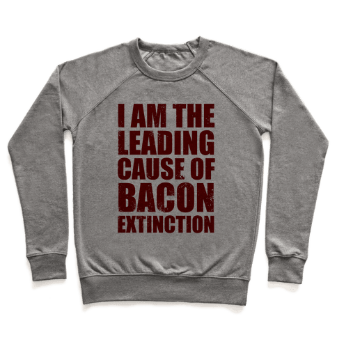 Leading Cause Of Bacon Extinction Pullover