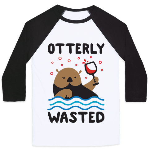 Otterly Wasted Baseball Tee