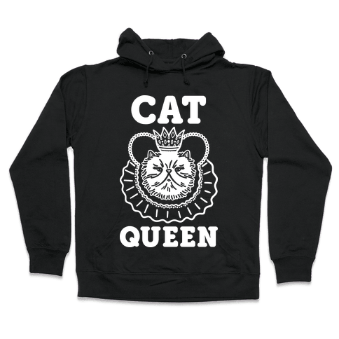 Cat Queen Hooded Sweatshirt