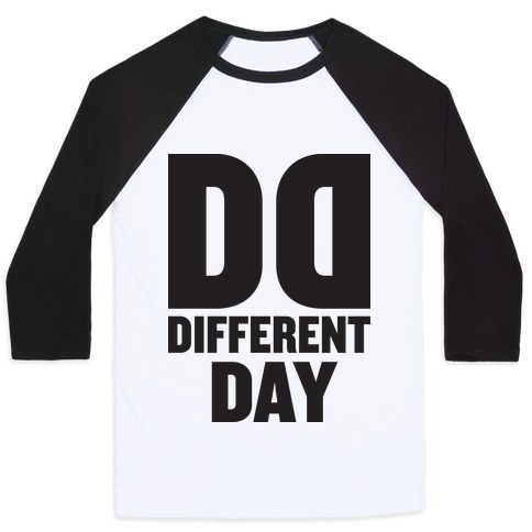 BFF Different Day (Tank) Baseball Tee