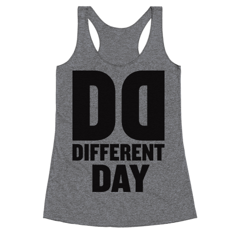 BFF Different Day (Tank) Racerback Tank Top