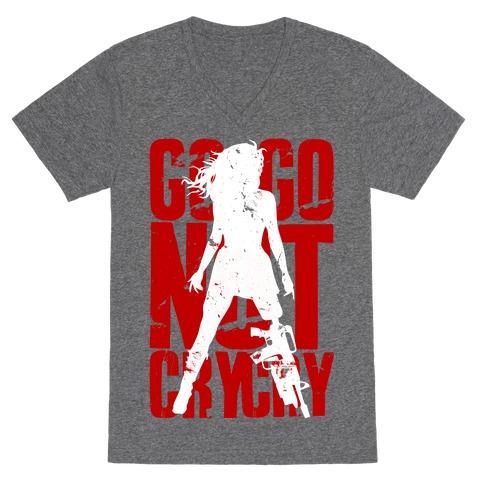 Go Go Not Cry Cry V-Neck Tee Shirt