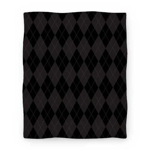 Black Argyle Blanket