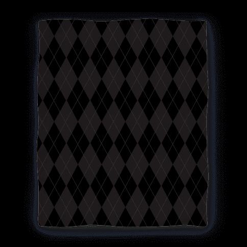 Black Argyle Blanket