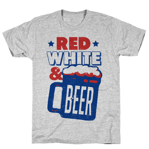 Red White & Beer Mens T-Shirt