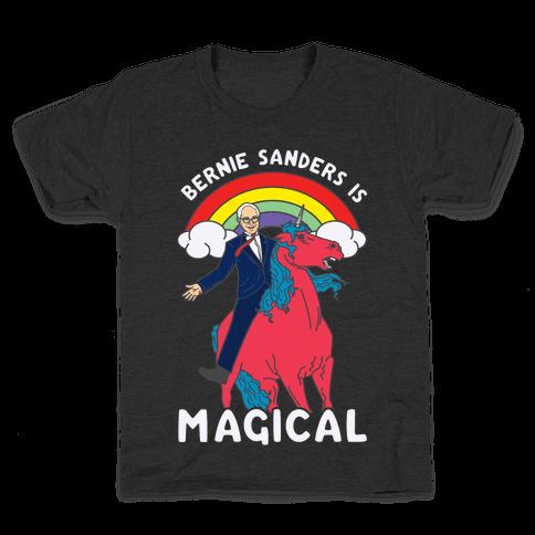 Bernie Sanders on a Magical Unicorn Kids T-Shirt