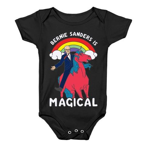 Bernie Sanders on a Magical Unicorn Baby Onesy