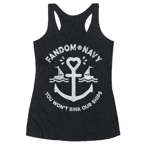Fandom Navy Racerback Tank Top