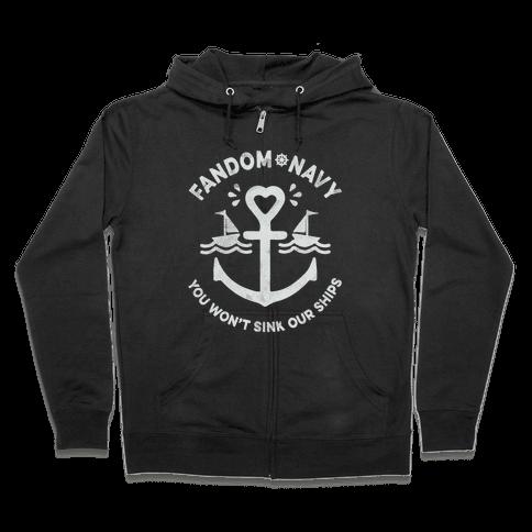 Fandom Navy Zip Hoodie