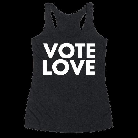 Vote Love Racerback Tank Top