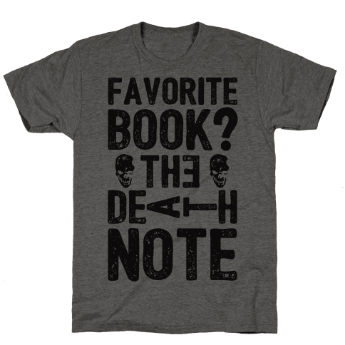 Favorite Book? The Death Note Mens T-Shirt