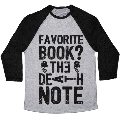 Favorite Book? The Death Note Baseball Tee