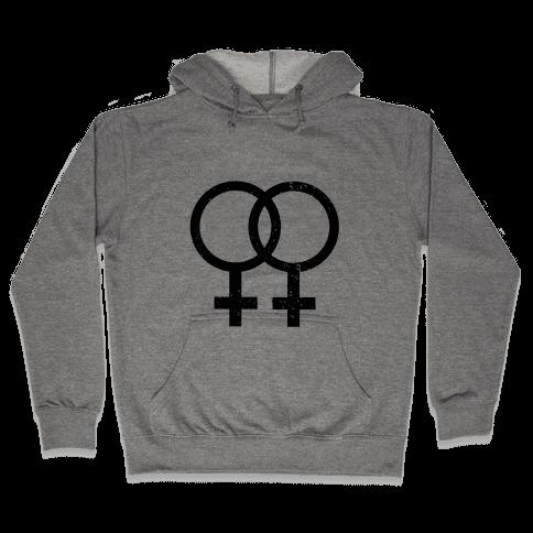 Lesbian Pride Hooded Sweatshirt