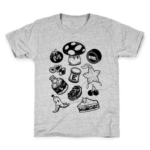 Gamer Food Items Kids T-Shirt