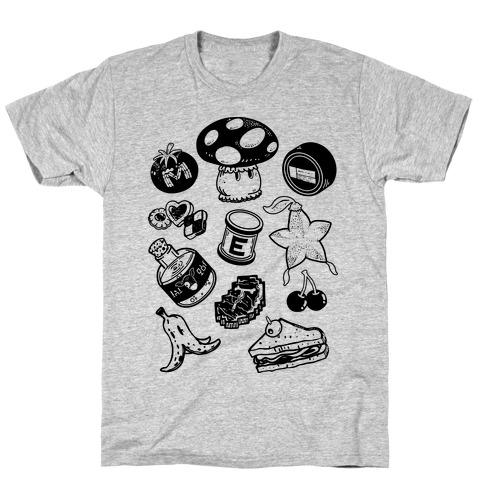 Gamer Food Items T-Shirt