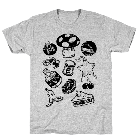 Gamer Food Items Mens T-Shirt