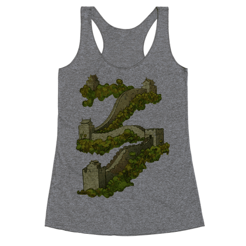 Great Wall Of China Travel Racerback Tank Top