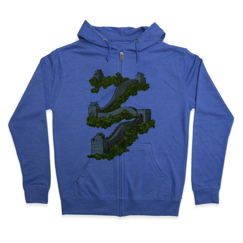 Great Wall Of China Travel Zip Hoodie