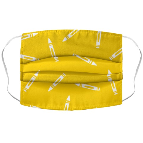 Simple Crayon Pattern Accordion Face Mask