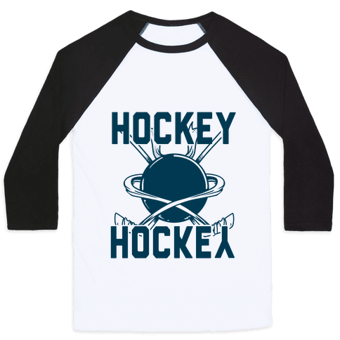 Hockey Upside Down is Still Hockey! Baseball Tee