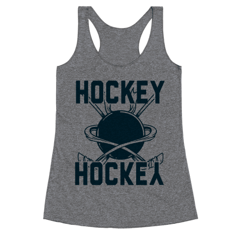 Hockey Upside Down is Still Hockey! Racerback Tank Top