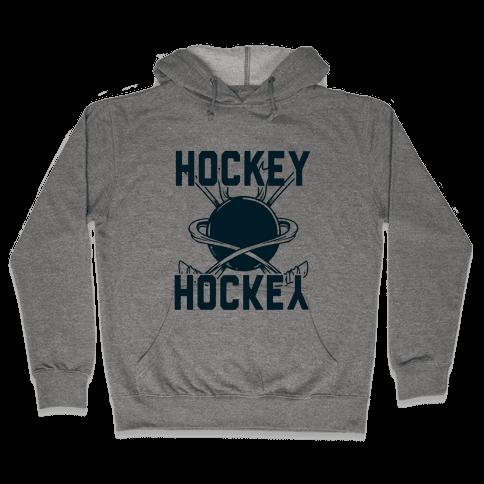 Hockey Upside Down is Still Hockey! Hooded Sweatshirt