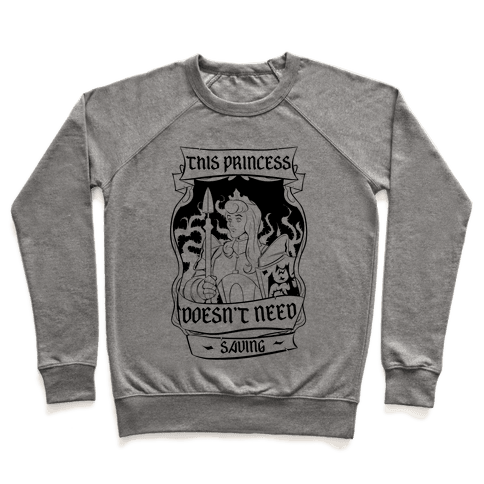 This Princess Doesn't Need Saving Sleeping Beauty Pullover