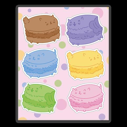 Cat Macarons  Sticker/Decal Sheet