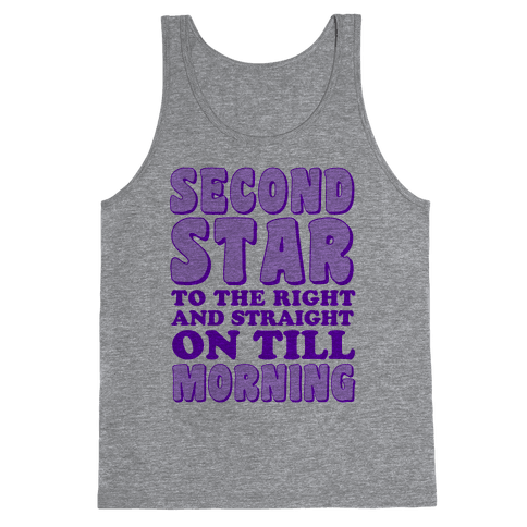 Second Star to the Right Tank Top