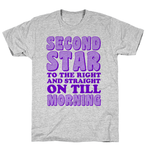 Second Star to the Right Mens T-Shirt