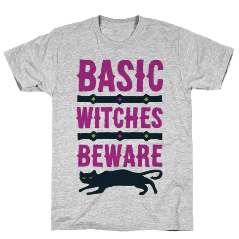 Basic WItches Beware Mens T-Shirt