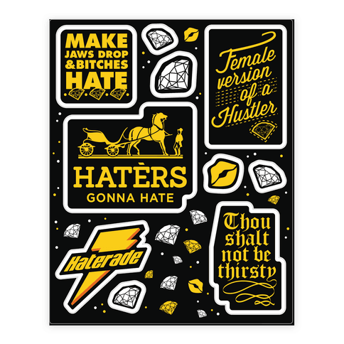 Haters Gonna Hate Theme  Sticker/Decal Sheet