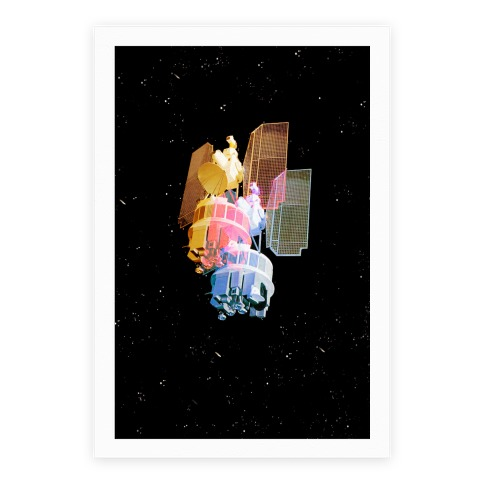 TriColor Space Satellite Poster
