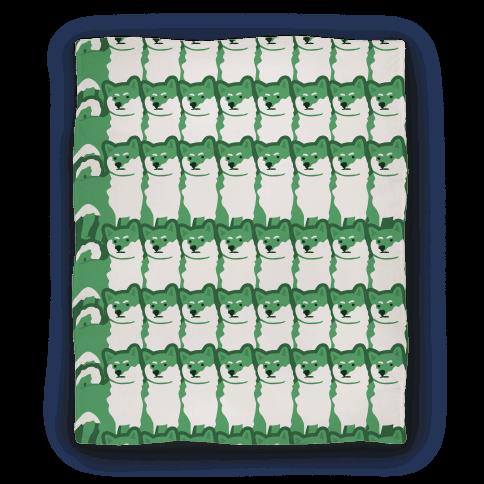 Shiba Green Hue Blanket