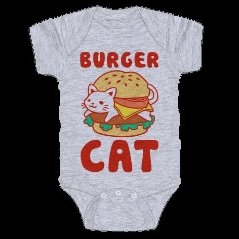 Burger Cat (Text) Baby Onesy