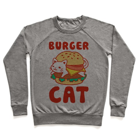 Burger Cat (Text) Pullover